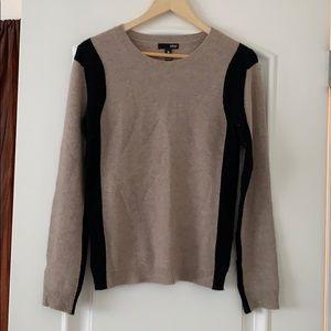 Aqua 100% Cashmere Cream sweater- Size S